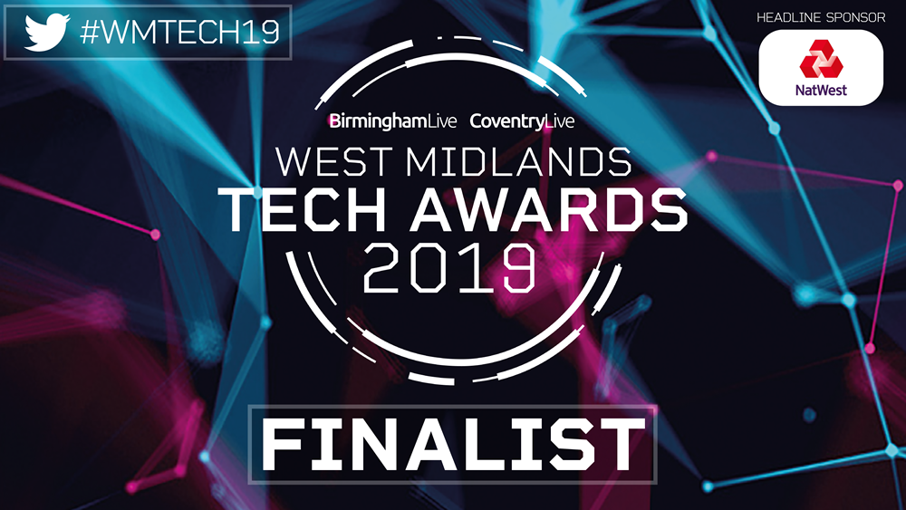 brightLET shortlisted for trio of awards at the West Midlands Tech Awards 2019