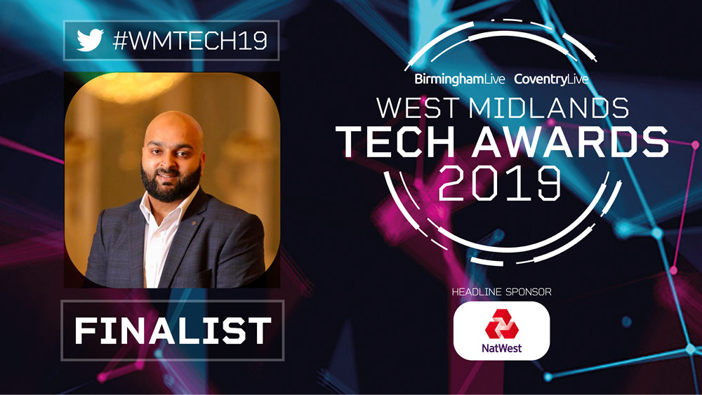 Camran Khan shortlisted for the Young Tech Talent award at the WM Tech Awards 2019