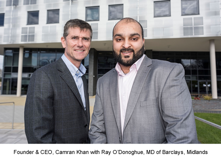Ray O'Donoghue, Barclays and Camran Khan, brightLET